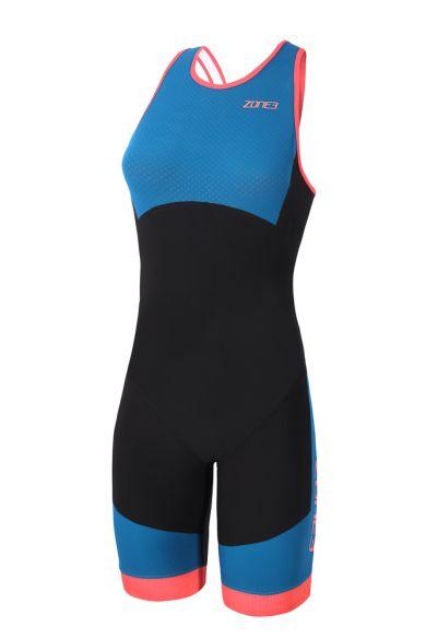 Zone3 Aeroforce swimback Ärmellos Trisuit Blauw/Schwarz Damen  TS18WASW101