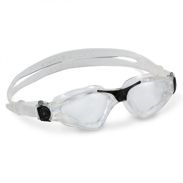 Aqua Sphere Kayenne klare Linse Schwimmbrille Silber  ASEP1220001LC