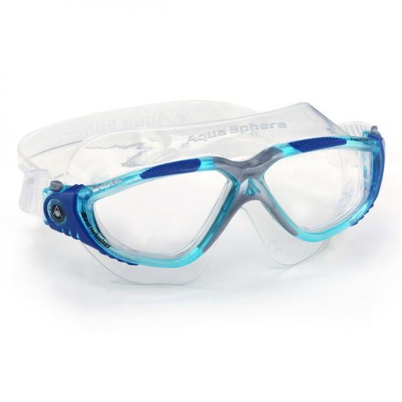 Aqua Sphere Vista klarglas schwimmbrille Blau  ASMS1734340LC