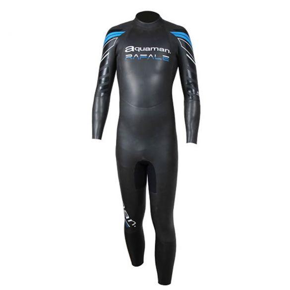 Aquaman Rafale Langarm Neoprenanzug Schwarz/Blau Herren  ARA19