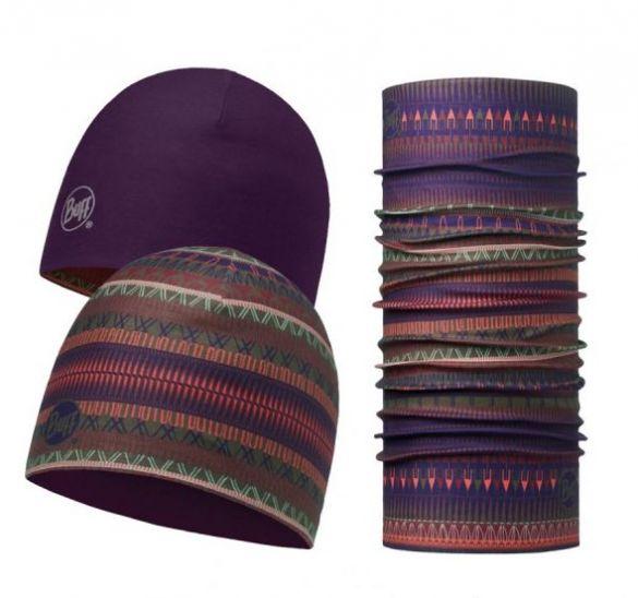 BUFF Microfiber reversible Hat + original BUFF combi Oslo Lila  113283622-VRR