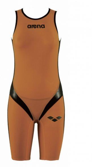 Arena Carbon pro Rear zip Ärmellos Trisuit Orange Damen  AR1A561-35