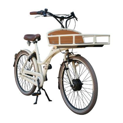 dutchebike elektro damenrad cargo beige online kaufen beim. Black Bedroom Furniture Sets. Home Design Ideas