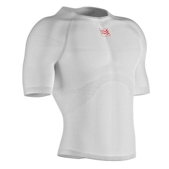 Compressport 3D thermo ultralight shirt kurze Ärmel Unterwäsche Weiß  TS3D-SS00