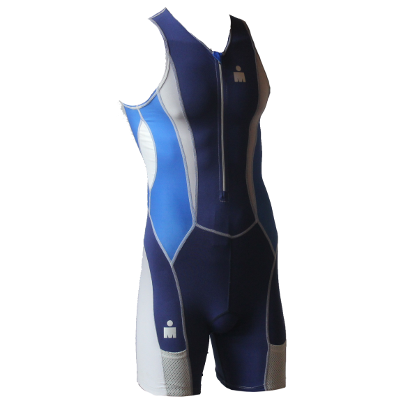 Ironman Trisuit front zip ärmellos Speedflo Blau Herren  IM39441-50