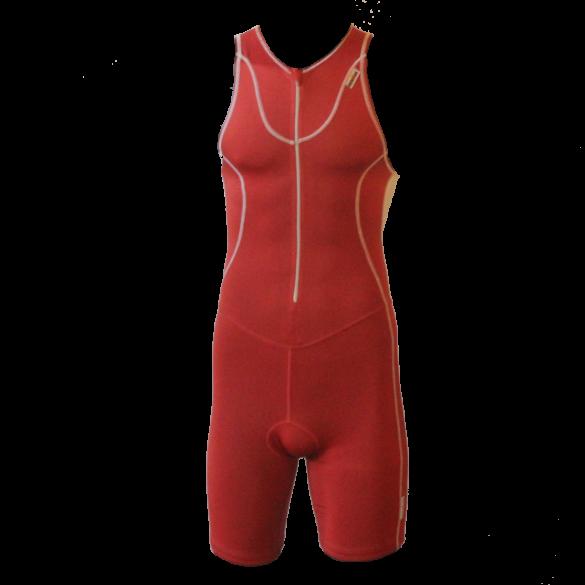 Ironman Trisuit front zip ärmellos Speedflo Rot/Silber Herren  IM4000-05/10