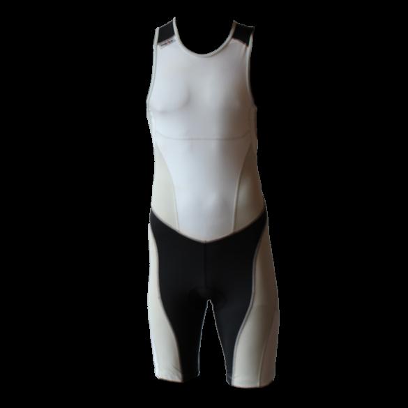 Ironman Trisuit back zip ärmellos Extreme suit Weiß/Grau Herren  IM7500-03/10