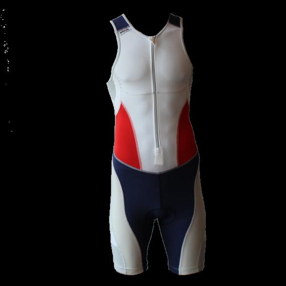 Ironman Trisuit front zip ärmellos Extreme suit Weiß/Blau/Rot Herren  IM7507-03/41