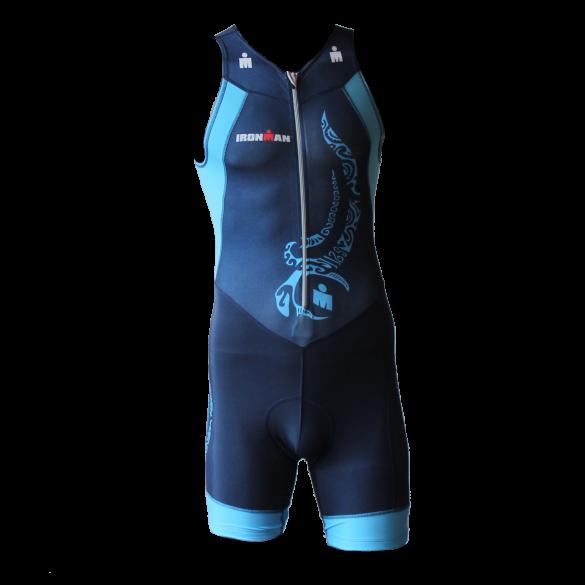 Ironman Trisuit front zip ärmellos Multisport Tattoo Blau Herren  IM8902-41/50