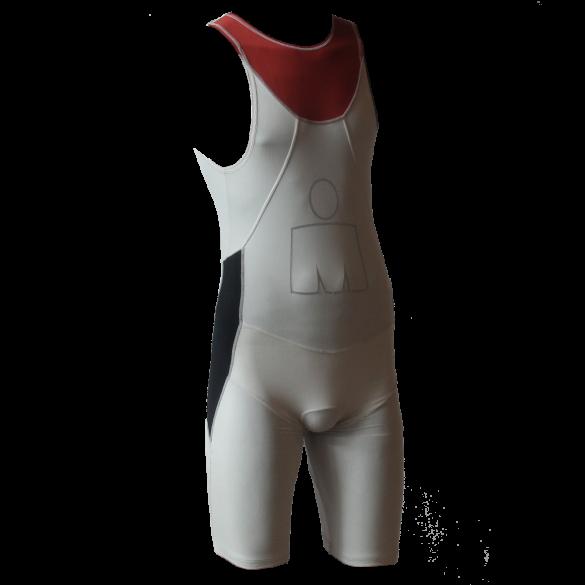 Ironman Trisuit back zip ärmellos Aero Weiß/Rot Herren  IMA500-03/05