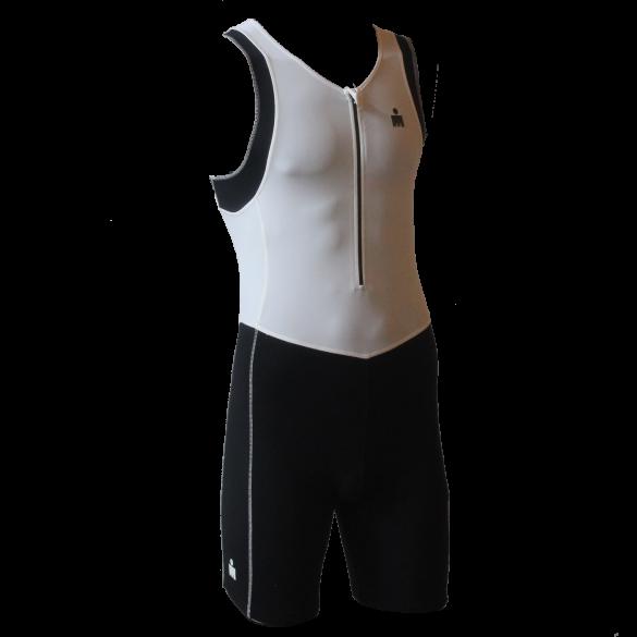 Ironman Trisuit front zip ärmellos B9 Weiß/Schwarz Herren  IMB950-03/15