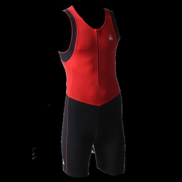 Ironman Trisuit front zip ärmellos B9 Rot//Schwarz Herren  IMB950-05/15