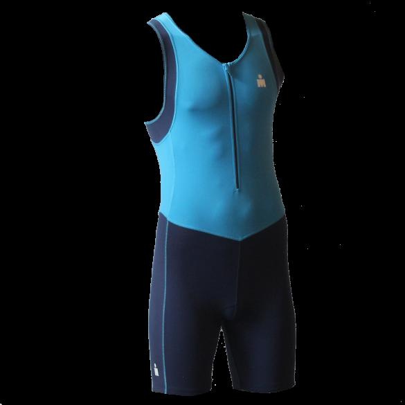 Ironman Trisuit front zip ärmellos B9 Blau Herren  IMB950-50/41