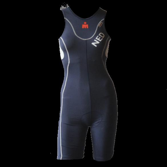 Ironman Trisuit back zip ärmellos extreme bodysuit Blau/NED Damen  IMW4517-41/NED