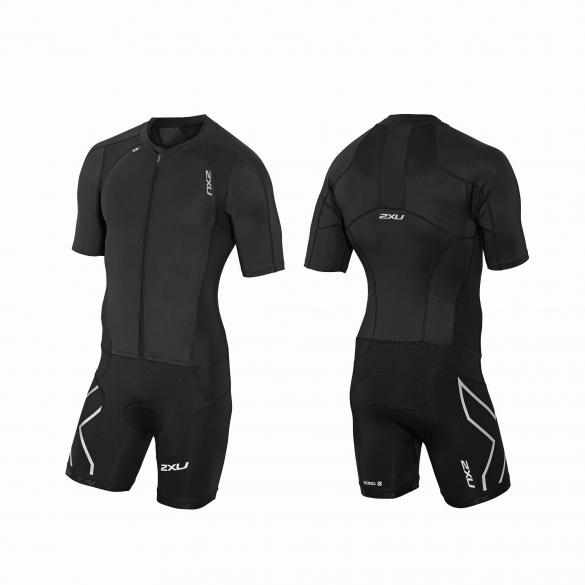 2XU Compression Full Zip sleeved trisuit Schwarz Herren  MT3613d