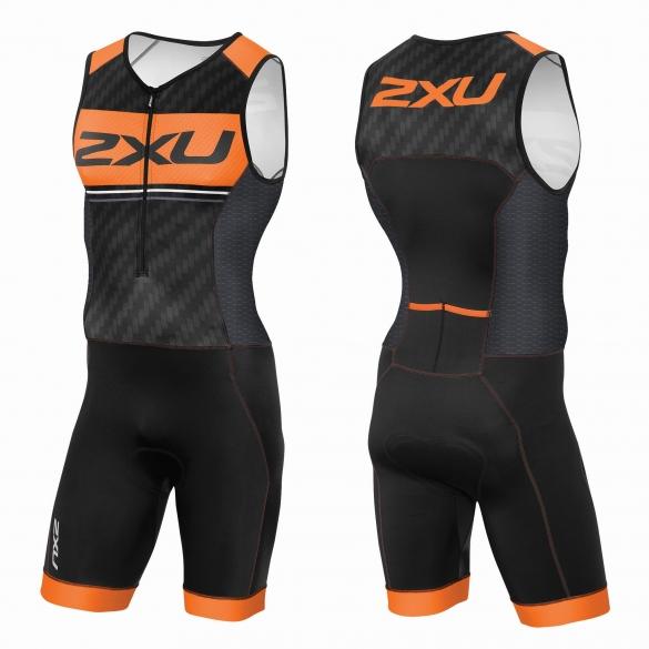 2XU Perform Pro trisuit Schwarz/Orange Herren   MT3622d