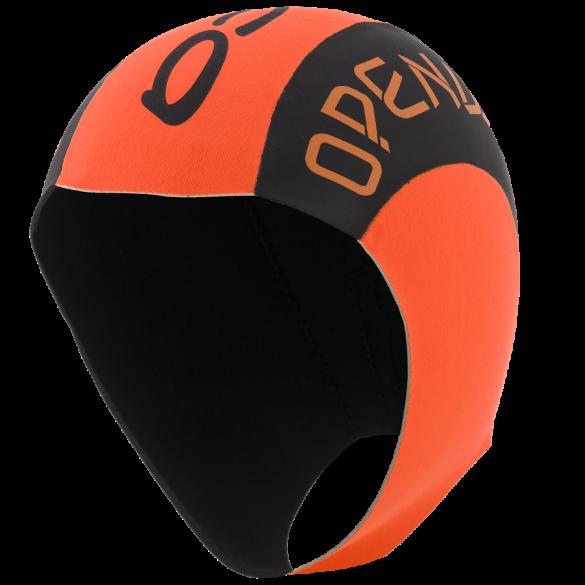 Orca Neopreen swim cap Schwarz/Orange  DVAC54