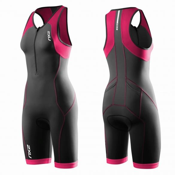 2XU G:2 Active Trisuit Schwarz/Rosa Damen   WT3119d