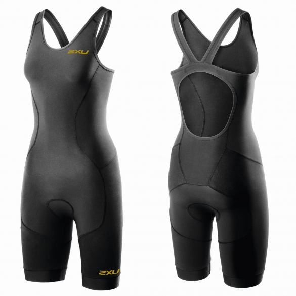 2XU GHST Tri suit Schwarz/Gold Damen  WT3606d