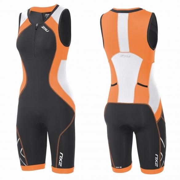 2XU Compression Full Zip trisuit Schwarz/Orange Damen    WT3619d