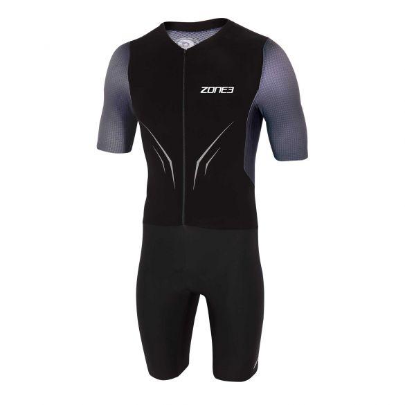Zone3 Aeroforce X Kurzarm Trisuit schwarz/grau Herren  TS20MAFS101